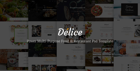 Delice – Power Multi-Purpose Food & Restaurant Psd Template