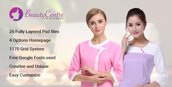 BeautyCentre – Professional Beauty & Spa Services PSD