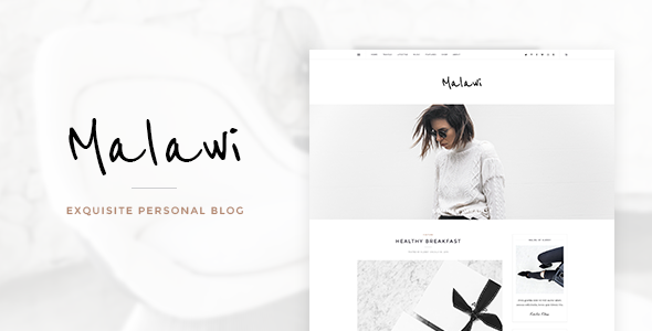 Malawi - Exquisite Personal Blog  - Creative PSD Templates