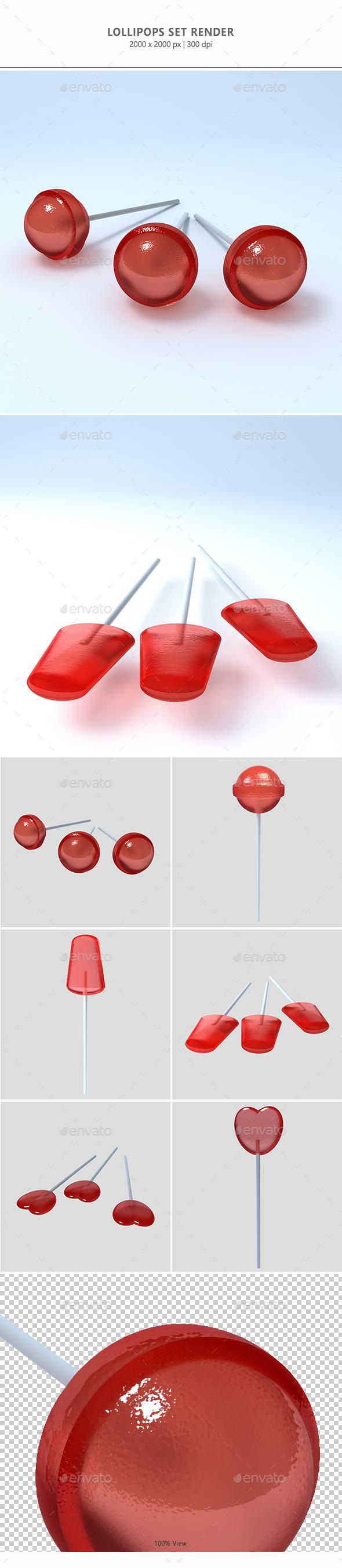 Lollipops Set - 3D Backgrounds