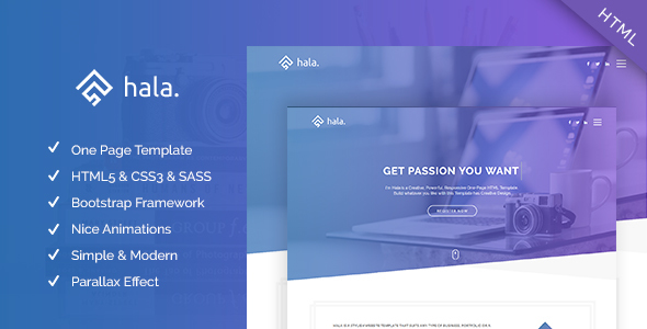 Hala – Multi-purpose Responsive One Page Template