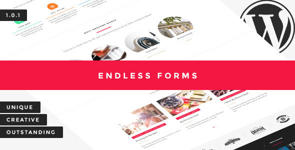 Endless Forms - Minimal & Creative WordPress Theme