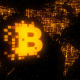 Bitcoin World Map Gold - VideoHive Item for Sale
