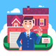 Real Estate Agent and House for Sale - GraphicRiver Item for Sale