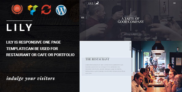 Lily | One Page Restaurant WordPress Theme - Restaurants & Cafes Entertainment