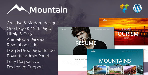 Mountain | Creative One Page WordPress Theme - Creative WordPress