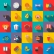 Circus Icons Set, Flat Style - GraphicRiver Item for Sale