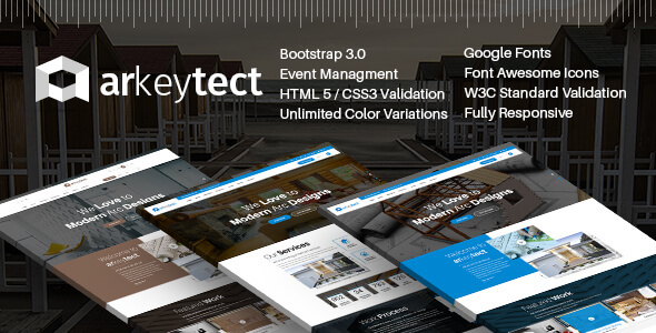 Arkeytect - Architecture Responsive Template - Corporate Site Templates