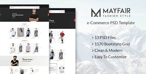 Mayfair – eCommerce PSD Template