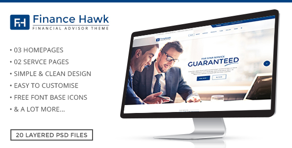 Finance Hawk – Finance and Business PSD Template