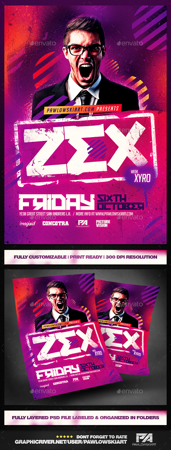 club dj flyer template psd graphics designs templates