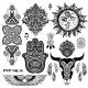 Bohemian Style Flash Tattoo Symbols - GraphicRiver Item for Sale