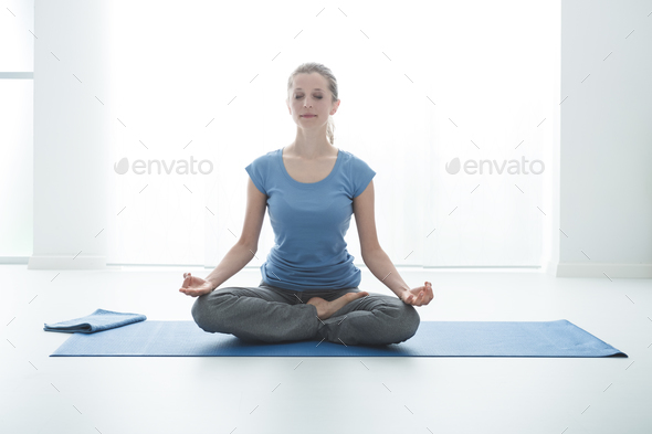 Lotus pose - Stock Photo - Images