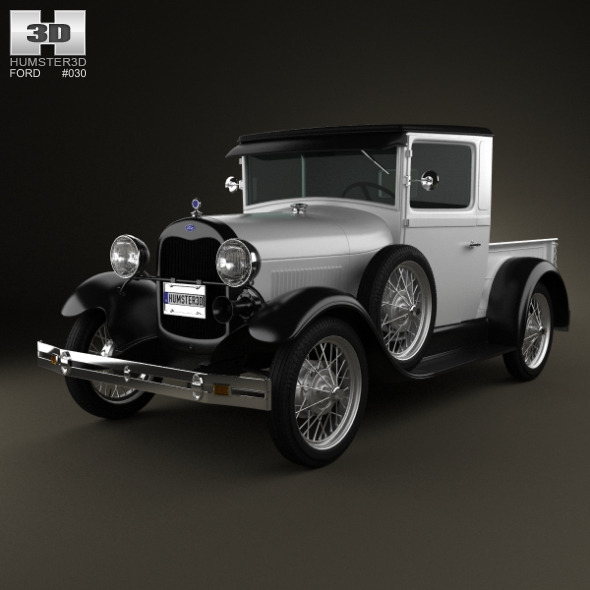 Ford Model A Pickup ClosedCab 1928 - 3DOcean Item for Sale