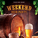 Weekend Beer Party Flyer - GraphicRiver Item for Sale