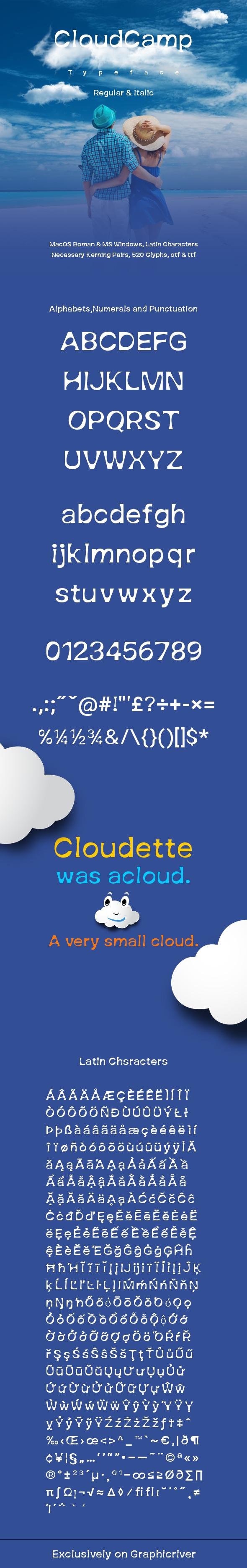 CloudCamp - Sans-Serif Fonts
