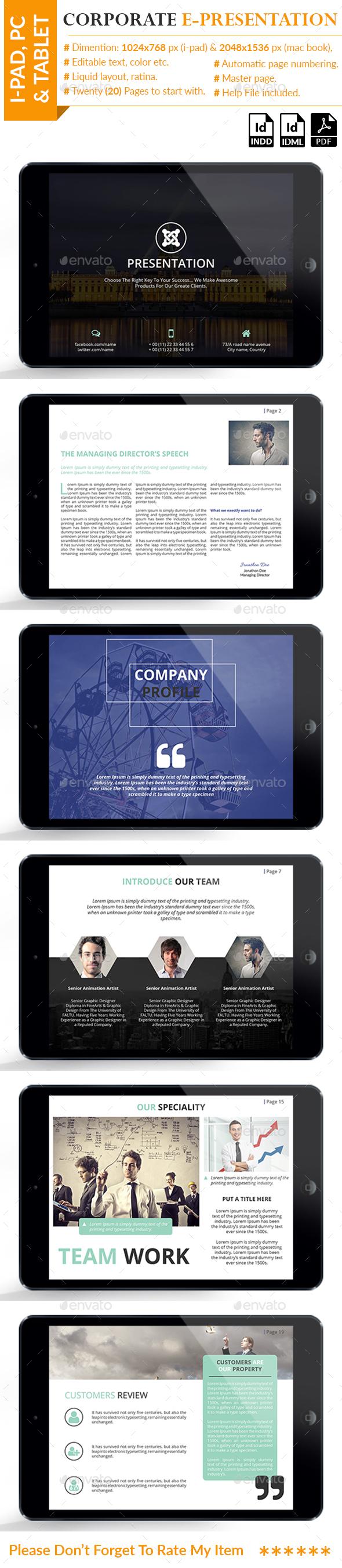 Corporate E-Presentation - Digital Books ePublishing