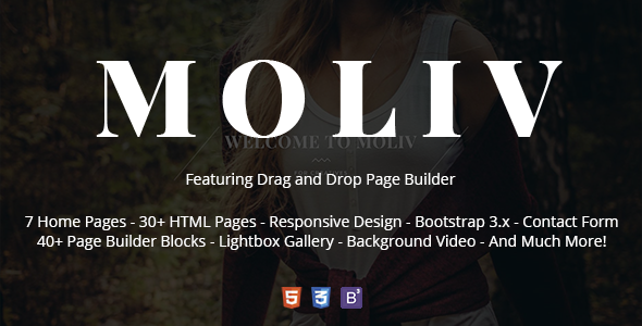 MOLIV – Creative Photography HTML Template with Page Builder
