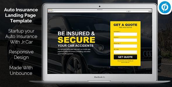 Jr. Auto Insurance – Landing Page Unbounce Template