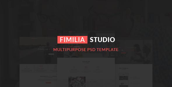 FIMILIA STUDIO – CREATIVE PSD TEMPLATE