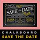 Elegant Chalkboard Save The Date Postcard | Volume 1 - GraphicRiver Item for Sale