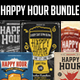 15 Happy Hour Flyer Bundle - GraphicRiver Item for Sale