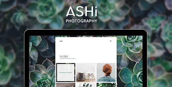 Ashi – Minimal Photography WordPress Theme