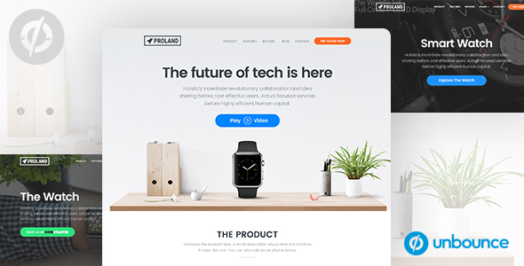 Unbounce Product landing Page Template - Proland - Unbounce Landing Pages Marketing