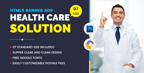 Medical Agency Banners HTML5 - Google Web Desinger - CodeCanyon Item for Sale