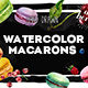 Delicious Macarons Watercolor Set - GraphicRiver Item for Sale