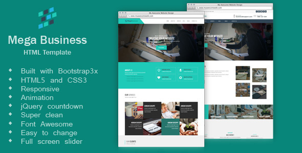 Mega Business - Corporate, Business,  HTML5 Template