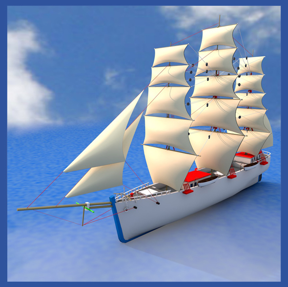 Clipper Ship - 3DOcean Item for Sale