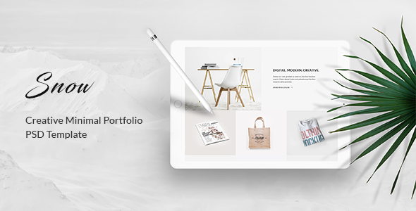 Snow – Minimal & Clean Portfolio PSD Template