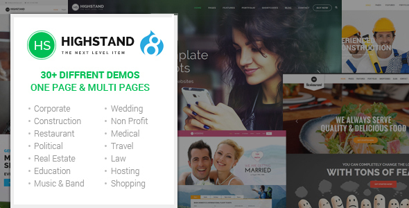 Highstand – Responsive MultiPurpose Drupal Theme