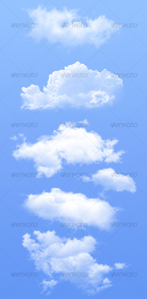 Isolated Clouds - Nature Backgrounds