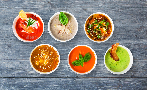 Image result for soup variety picture