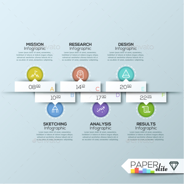 Modern Infographic Paper Timeline Template