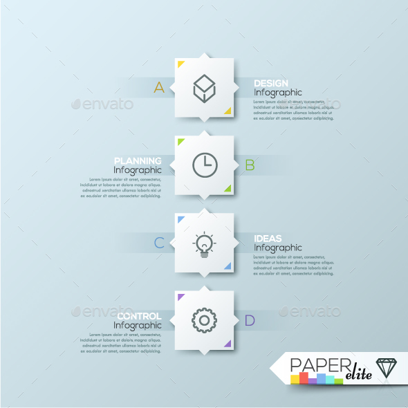 Modern Infographic Paper Process Template