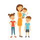 Mother with Kids Happy Family - GraphicRiver Item for Sale