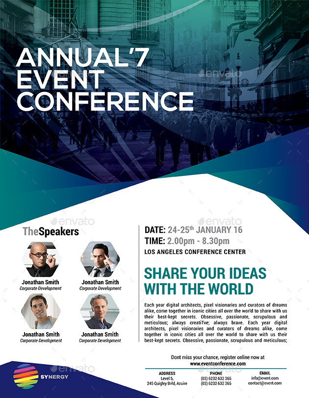 Event Summit Conference Flyer By Inddesigner Graphicriver