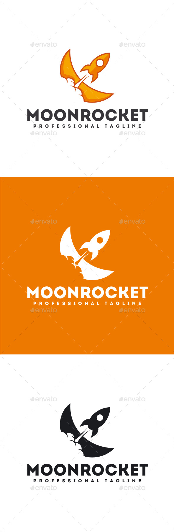 Moon Rocket Logo - Objects Logo Templates