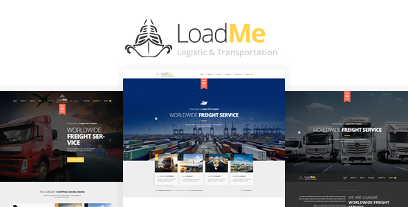 LoadMe – Logistic & Transportation PSD Template