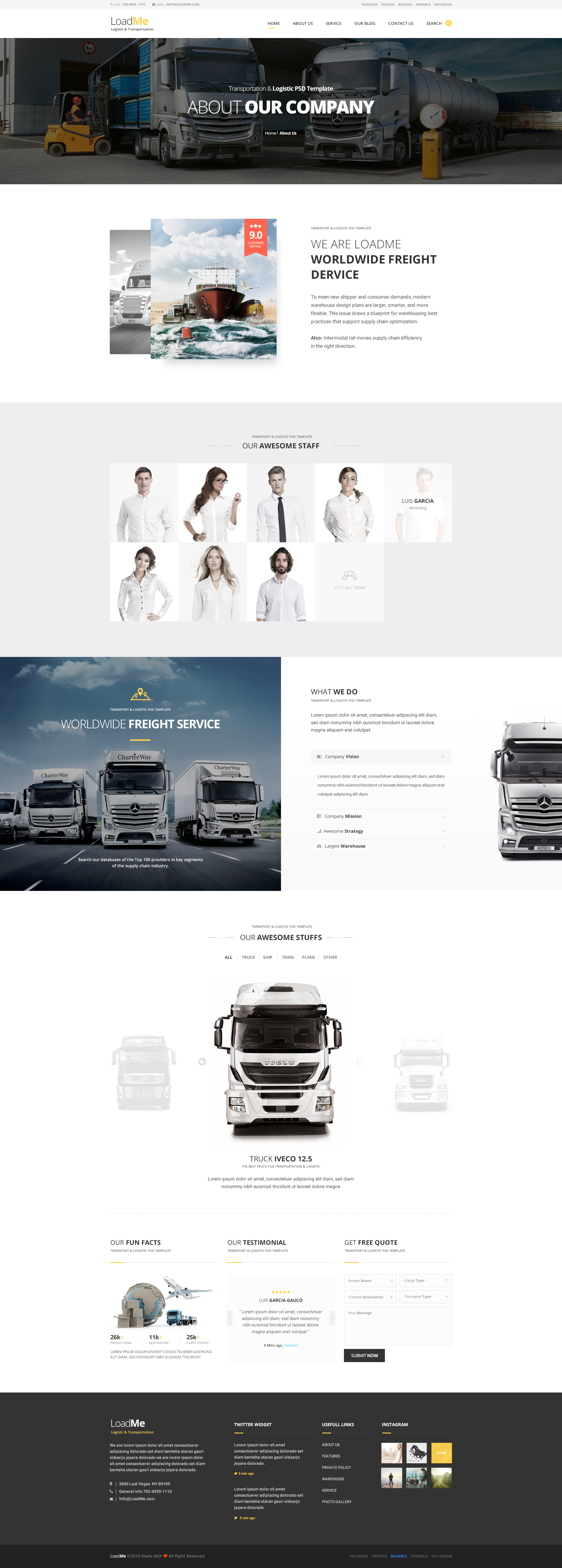 Loadme logistic transportation psd template by last40 themeforest loadme logistic transportation psd template malvernweather Image collections