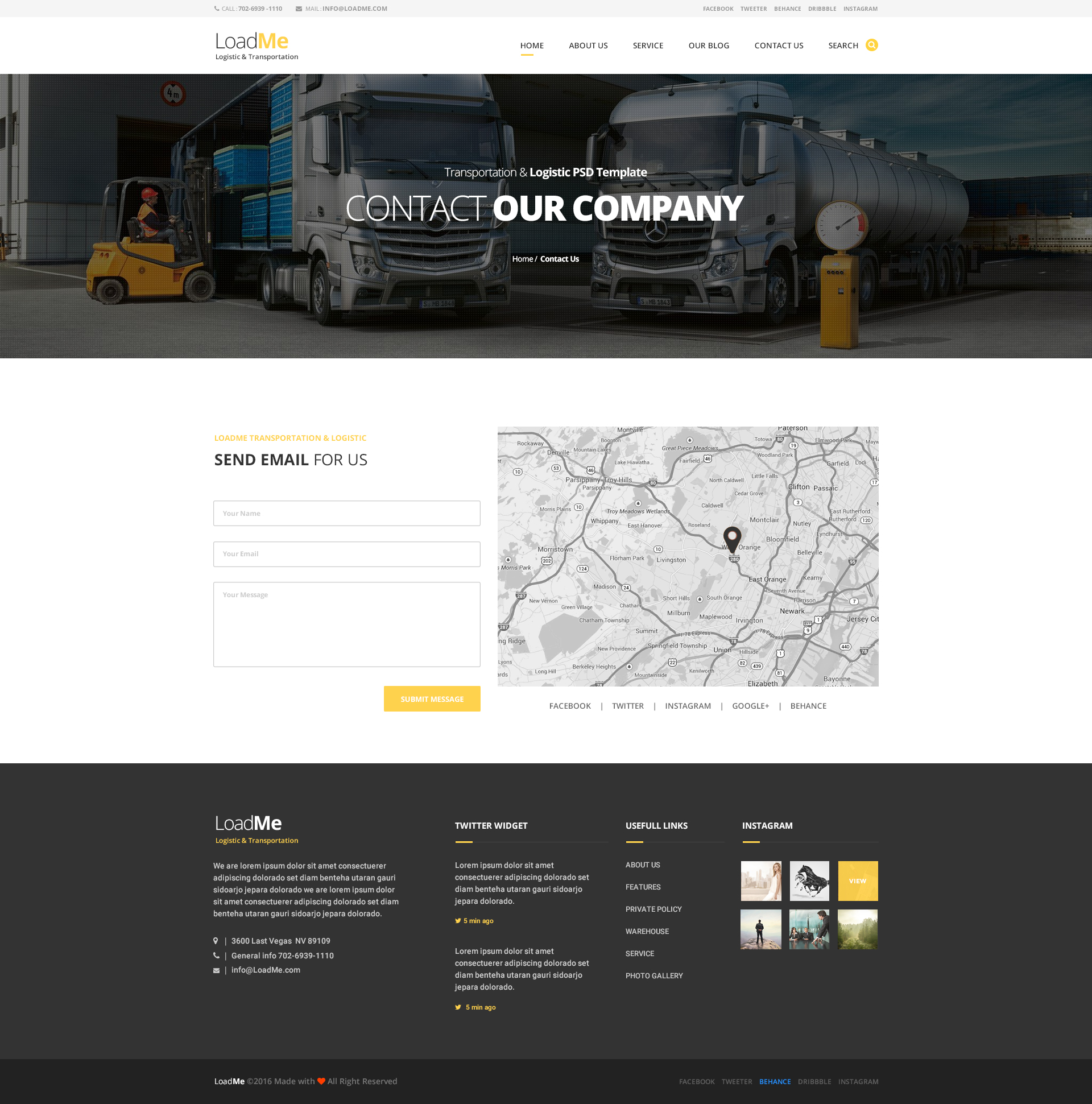 LoadMe - Logistic & Transportation PSD Template by Last40 | ThemeForest