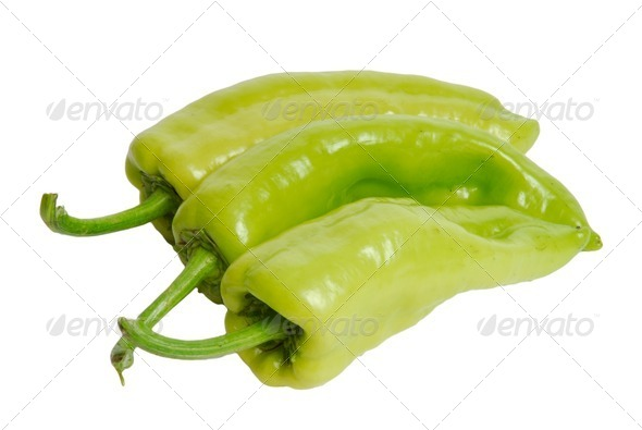 Fresh green pepper - Stock Photo - Images