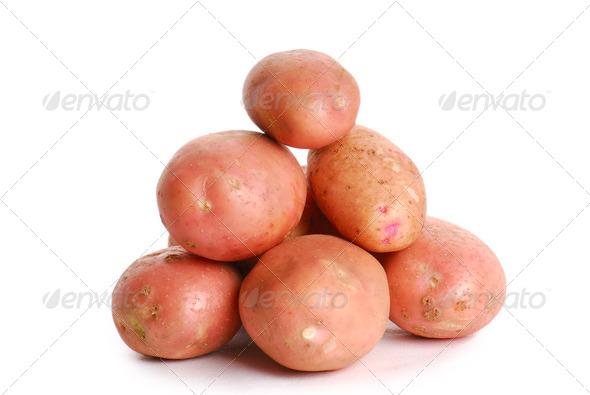 Heap of red potato - Stock Photo - Images