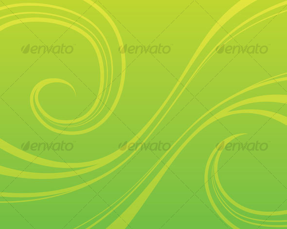 Swirly Green Background - Backgrounds Decorative