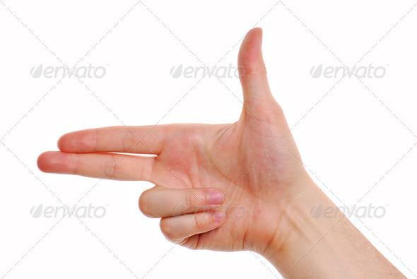 Gun gesture - Stock Photo - Images