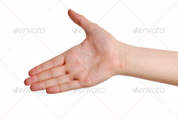 gesture greeting - Stock Photo - Images