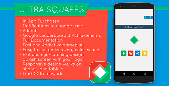 Ultra Squares - Highly Addictive Game Template - CodeCanyon Item for Sale